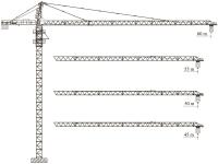 Башенный кран QTZ125 (6015L-10)