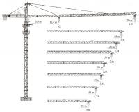 Башенный кран XGT160 (7015L-10)