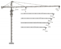 Башенный кран XGT100 (6012-8)