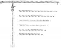 Башенный кран XGT125-6015